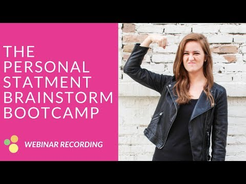 The DICAS Personal Statement Brainstorm Bootcamp // Dietetic Internship Applications Help
