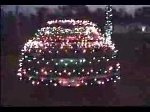 christmas lights on car - YouTube
