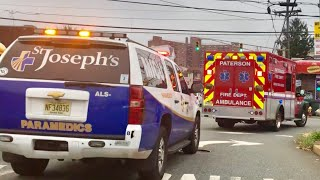 Paterson Fire Department EMS and St Joseph's Hospital Paramedics ALS 701 Responding on Madison Ave