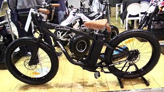 2015 E-Bike Cruiser 500W 48V Electric Bicycle - Walkaround - 2014 EICMA Milan Moto Show
