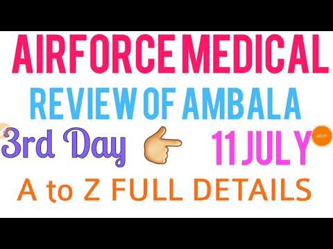 Indian Airforce medical review of Ambala|| Full details of the medical exam by Ft. Abhishek