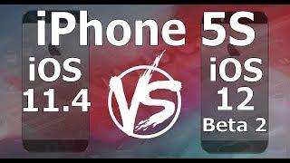 Speed Test : iPhone 5S - iOS 12 Beta 2 vs iOS 11.4 (iOS 12 Public Beta 1 Build 16A5308e)