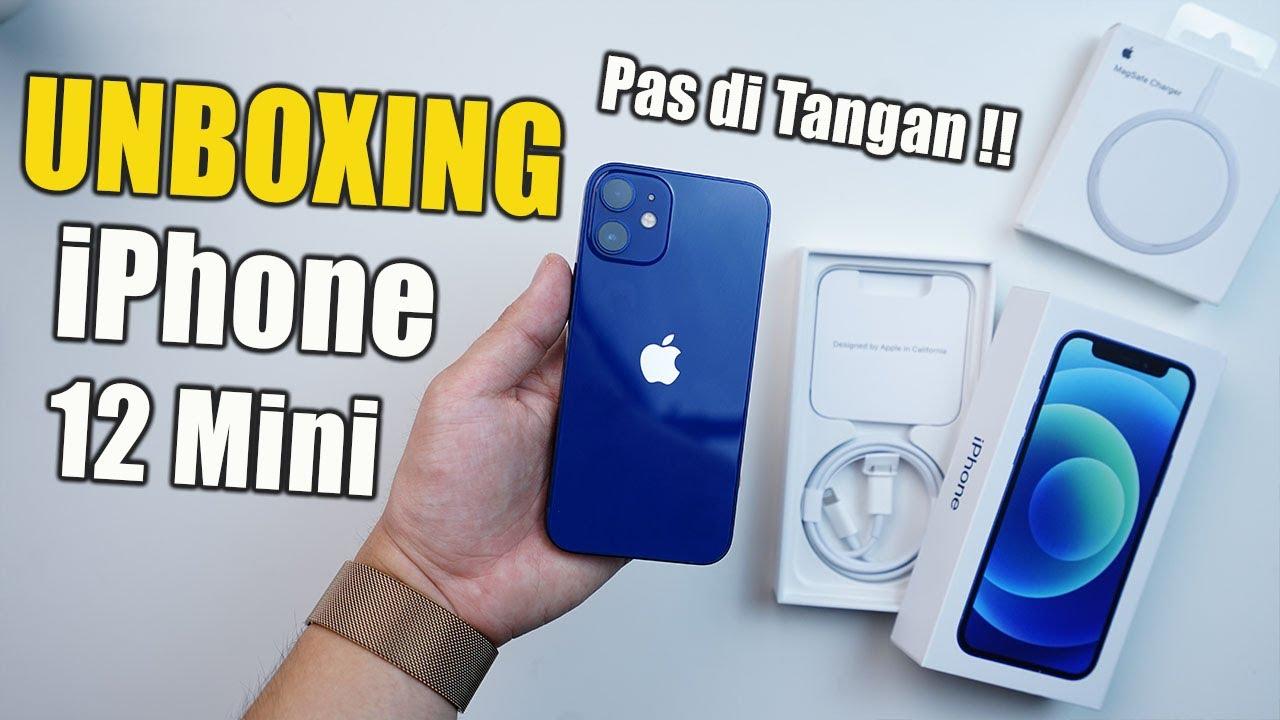 UNBOXING IPHONE 12 MINI INDONESIA! Ukuran Kecil Pas di ...