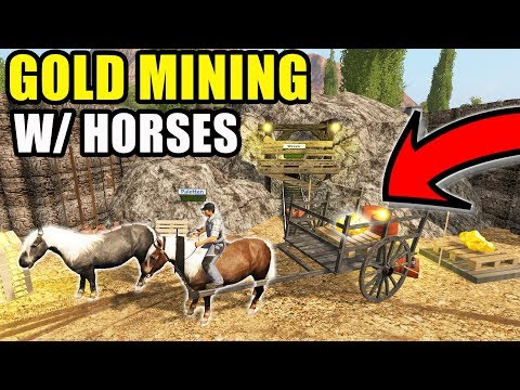 CALIFORNIA GOLD RUSH WITH HORSES! 50'S GOLD MINING | MULTIPLAYER | FARMING SIMULATOR 2017