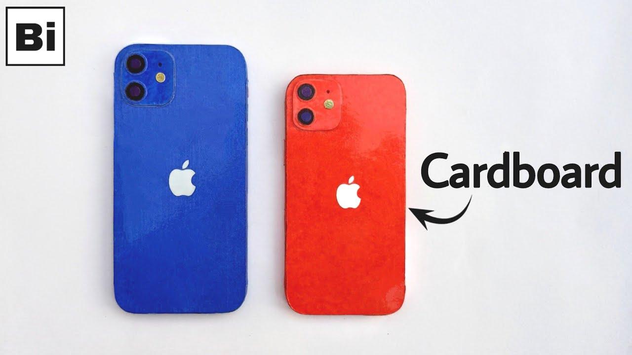 How To Make iPhone 12 & iPhone 12 Mini From Cardboard | Bi