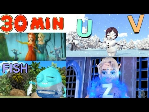 30 MIN of ABC Songs for Children Feat. Alisa and Frozen Land Friends | Learn the English Alphabet