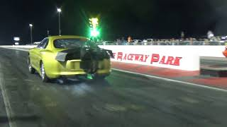 Turbo Supra hits the wall vs Orange Mustang at Redemption 14 8 25