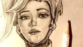 ASMR | Pencil Drawing 88 | Mercy (Request)