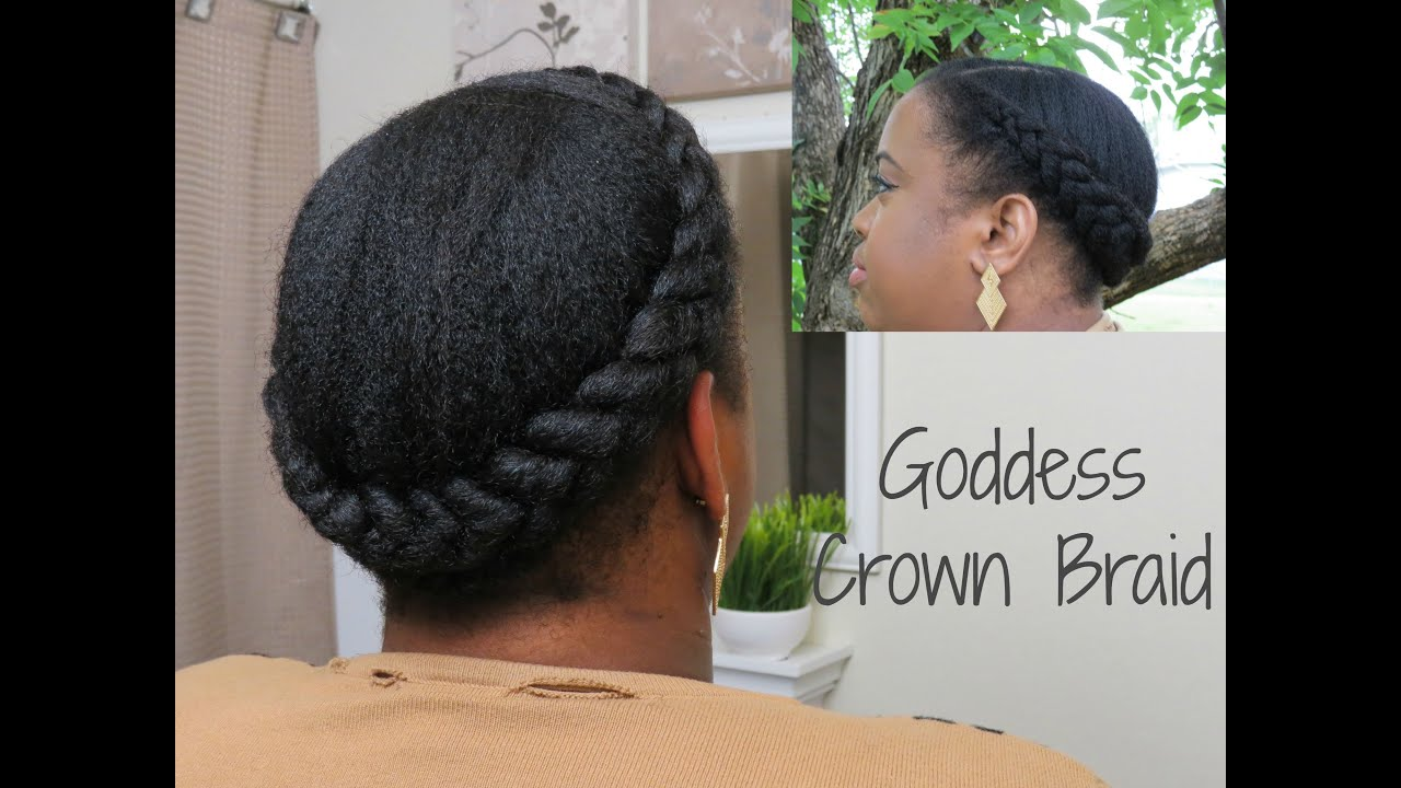Goddess Crown Braid | Natural Hair - YouTube