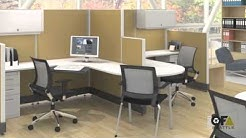 Used Office Furniture Seattle - NEW Friant System 2 Workstations