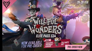Elite Pass Reward Highlight: Willful Wonders | Garena Free Fire