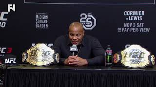 UFC 230: Daniel Cormier Post-Fight Press Conference - I Almost Pulled Out Because I Sneezed