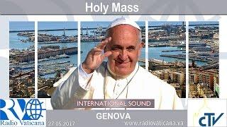 2017.05.27 Pope Francis in Genoa - Eucharistic Concelebration
