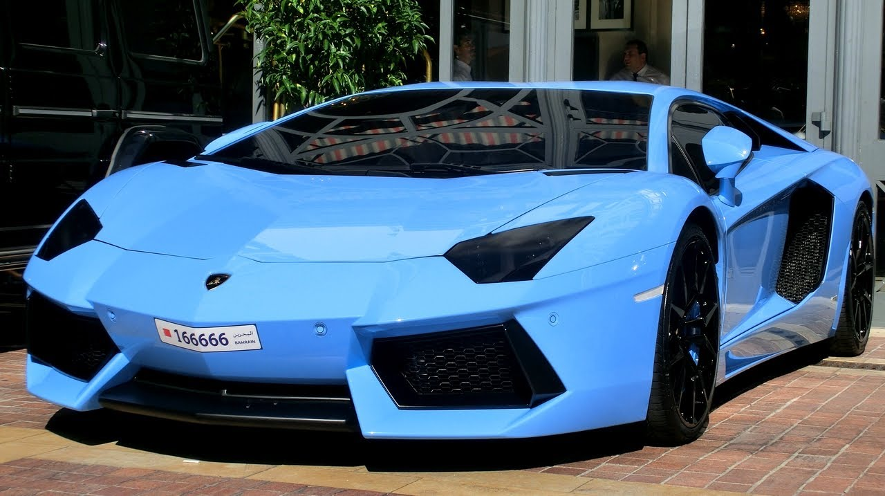 arab baby blue aventador from bahrain in cannes youtube. Black Bedroom Furniture Sets. Home Design Ideas