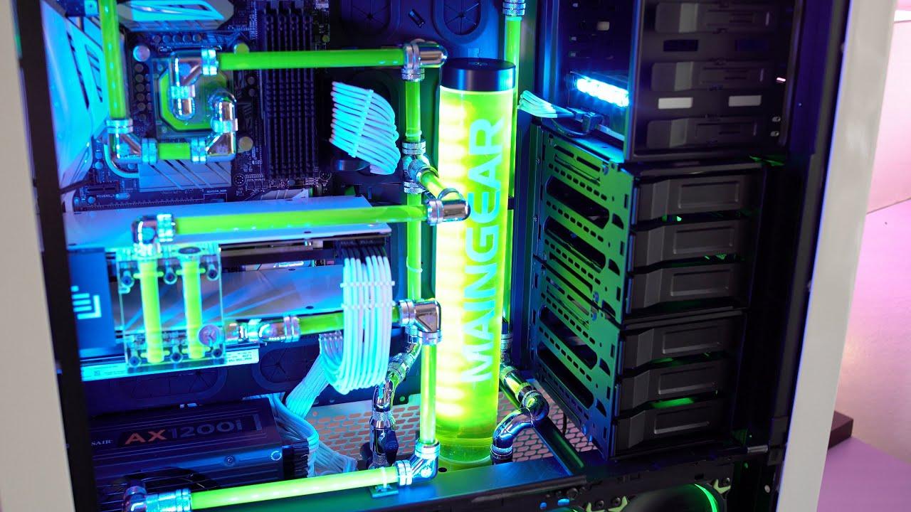 White Lightning Custom 5 000 Gaming Pc Build Youtube
