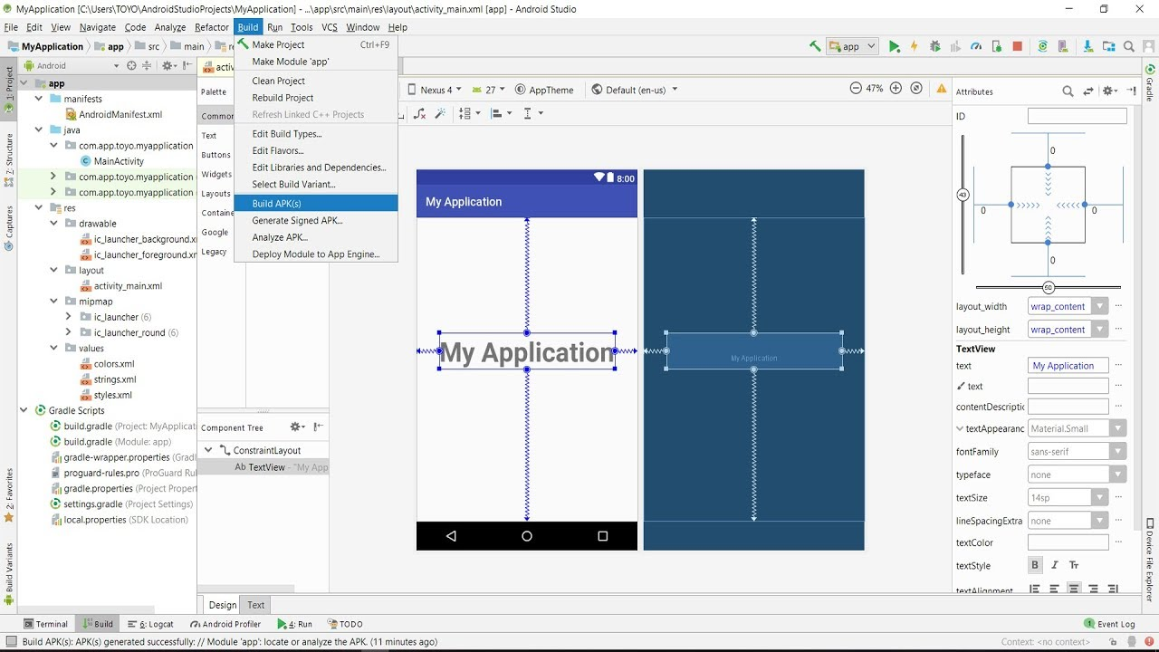 Tutorial How To Export APP (APK) for Distribution from Android Studio Project version 3.1.1  #Smartphone #Android