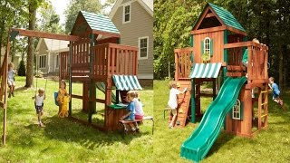 Winchester Wood Complete Play Set Playground System Construction Kit For Kids