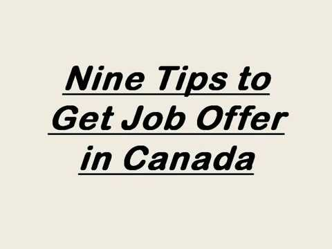 Tips to Get Job Offer in Canada Immigration 2017