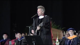Jon Bon Jovi at Rutgers University-Camden Commencement Ceremony