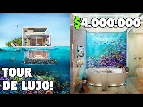 TOUR POR UNA CASA FLOTANTE DE LUJO EN DUBAI