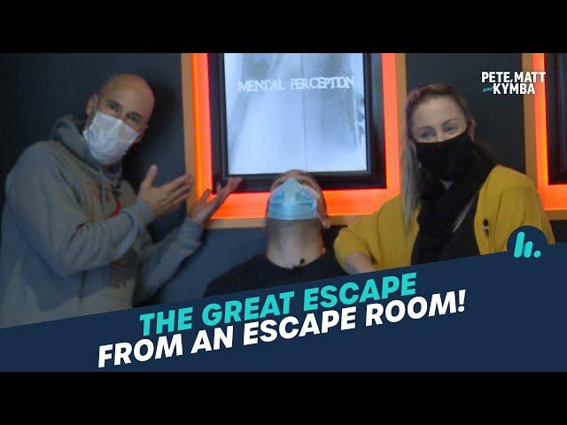 Escaping An Escape Room 🧐 | Pete, Matt and Kymba | Mix94.5