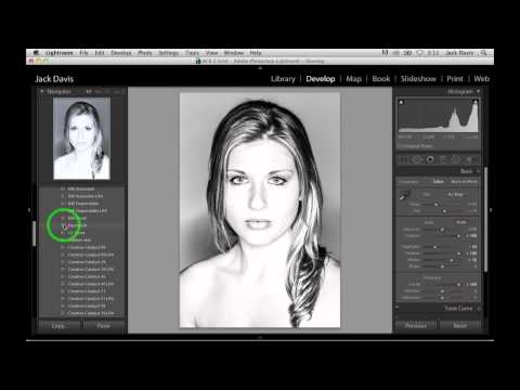 Editing Black And White Portraits In Lightroom With Jack Davis