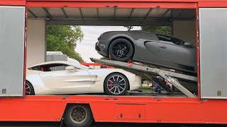 £Multi Million SuperCars getting loaded up on trailers!