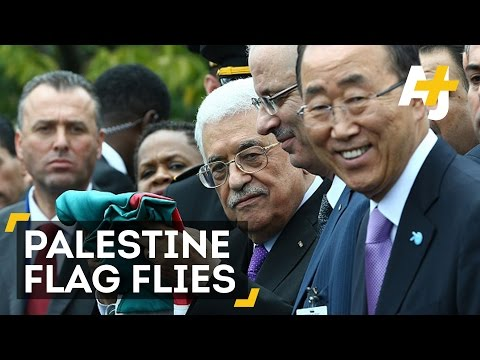 Palestine's Flag Flies At The UN For The First Time