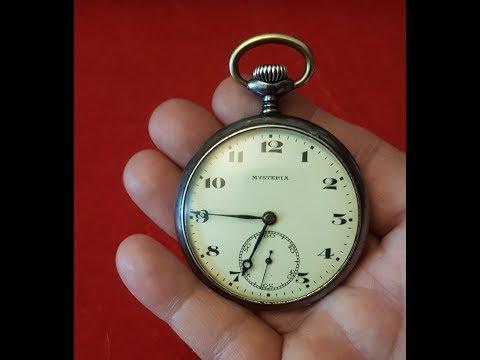 Tavannes Swiss Made Mysteria Antique Open Faced Pocket Watch Circa 1900s