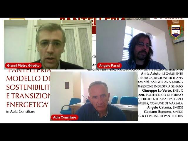 7-10-2021 Tavola Rotonda PANTELLERIA MODELLO DI SOSTENIBILITÁ E TRANSIZIONE ENERGETICA