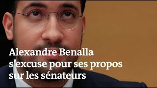 """Benalla s'excuse devant le Sénat : """"On n'attaque pas les hommes"""""""