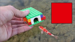 WORLDS smallest FISH-TRAP!! LEGO AND Flex seal