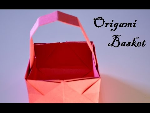 How To Make A Paper Basket Christmas Decorations YouTube