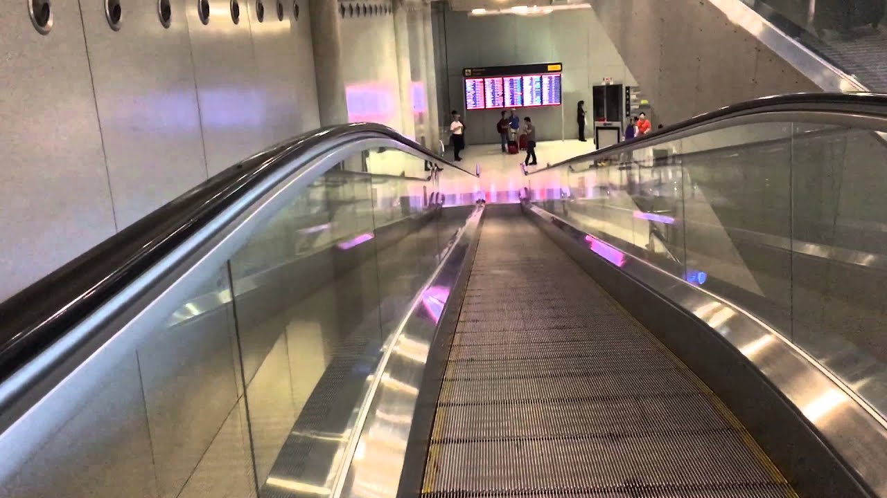 Stair less escalator at Hong Kong International airport ...