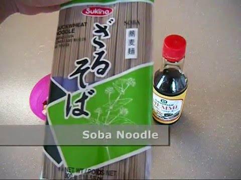 Easy Soba using Kikkoman Memmi