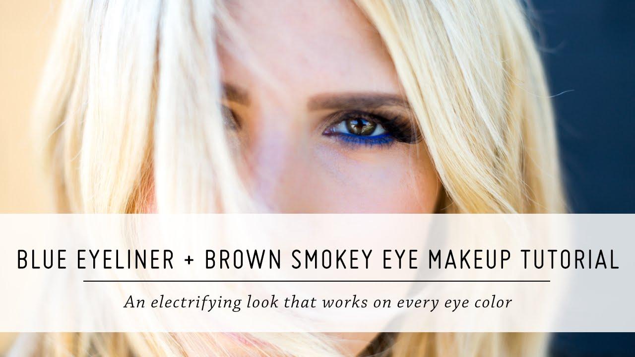 Blue eyeliner and brown smokey eye makeup tutorial knock out blue eyeliner and brown smokey eye makeup tutorial knock out beauty first impressions mr kate youtube baditri Image collections