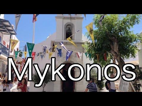 Mykonos Island Virtual Walking Tour 4K