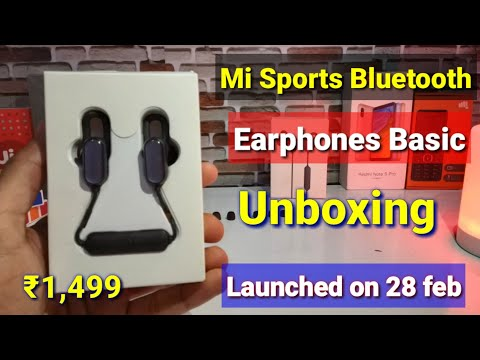 mi-sports-bluetooth-earphones-basic-unboxing-&-first-look-launched-28-feb-in-india-|-sound-quality