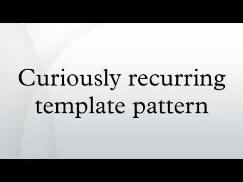 Curiously recurring template pattern youtube maxwellsz