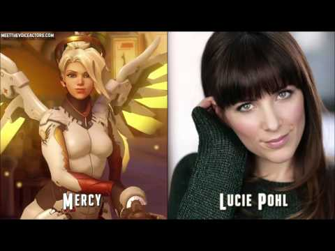 All 24 Overwatch Characters Voice Actors in Real Life! ( Updated Version 2017 )