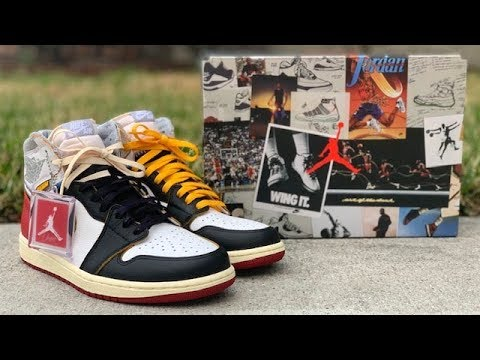 "27330ba104c4 Air Jordan 1 x Union LA ""Black Toe"" review - YouTube"