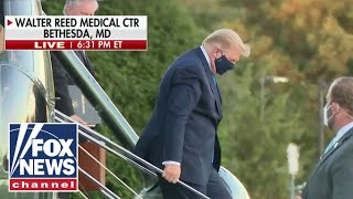 Trump arrives at Walter Reed after testing positive for coronavirus
