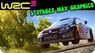 WRC 5 - 5 Stages Gameplay Max Graphics PC HD