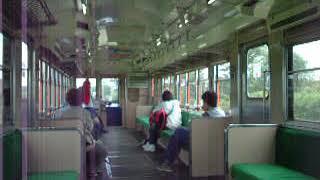 鹿島鉄道(鉾田線)キハ601下り列車内 桃浦駅発車~加速