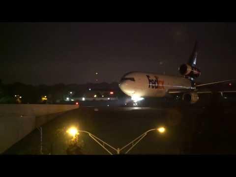 FedEx morning rush from KMEM Pt 1.  Memphis international airport