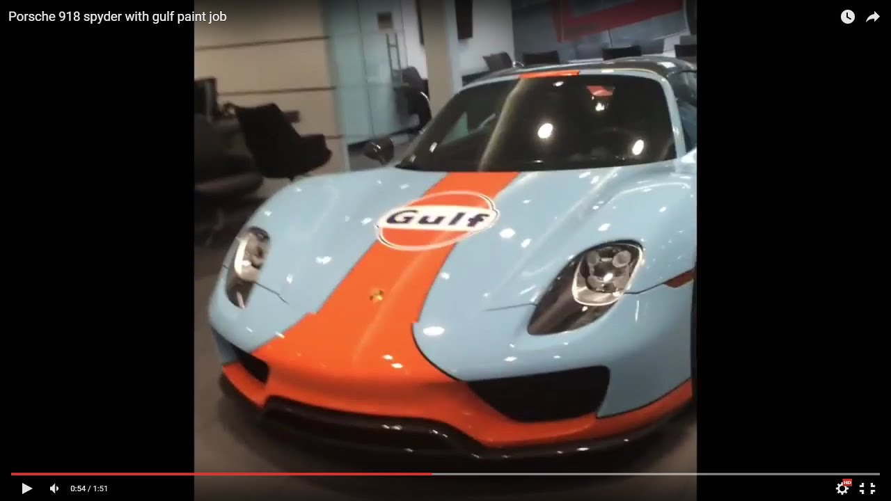 maxresdefault Stunning Porsche 918 Spyder Paint Job Cars Trend