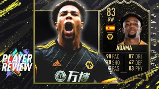 aDAMA TRAORE INFORM PLAYER REVIEW (83)  FASTEST PLAYER IN FIFA 20?  FIFA 20 ULTIMATE TEAM
