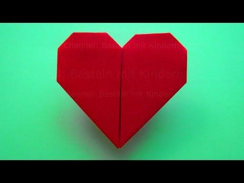 Muttertagsgeschenk basteln: Einfaches Origami Herz falten ❤ DIY Muttertag basteln mit Kindern
