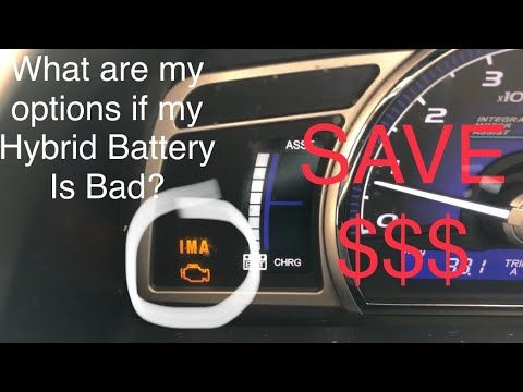 What Are My Options If My Hybrid Battery Is Bad Honda Civic Hybrid 06-11 IMA Light On SAVE MONEY!