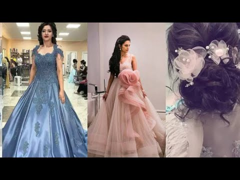 latest-ball-gown-with-hairstyle-images-//prom-gaun-design-//#wedding-gown-design-and-hairstyle